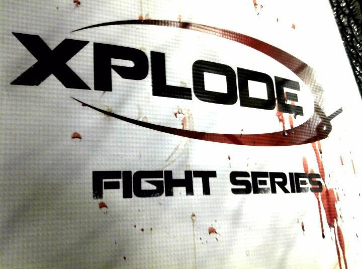 XPLODE-FIGHT-SERIES-BLOOD-ON-SIGN